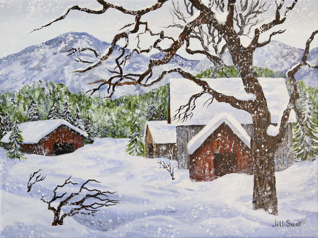 Snow Painting by Jill Saur