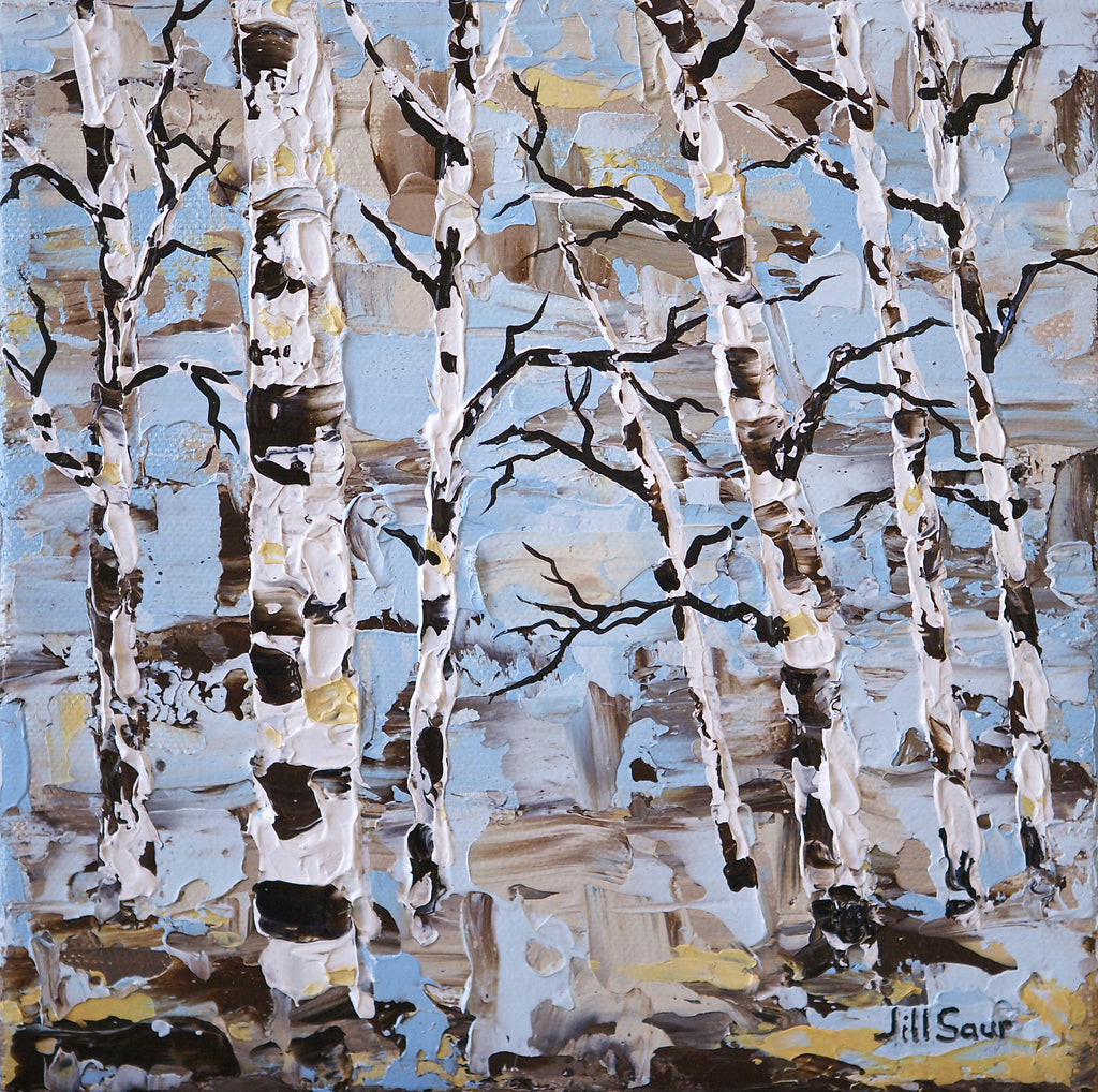 Abstract Tree Painting by Jill Saur