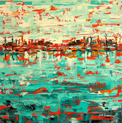 Abstract Sea Painting by Jill Saur