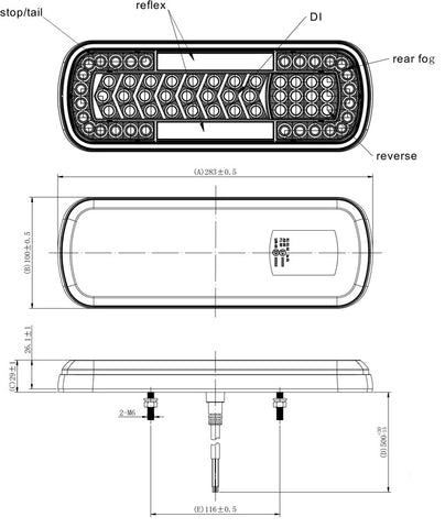 led trailer lamp for trucks