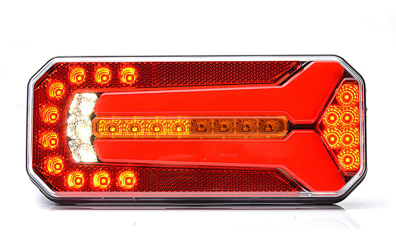 Rear Combination Trailer Lamp with Dynamic Indicator + Reverse Light