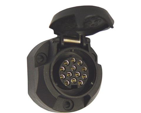 13 pole car trailer socket 12v