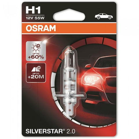 12v H1 Osram Silver Star +60% More Light
