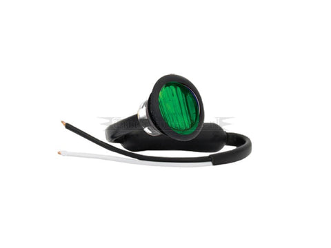 Round LED Marker Lights GREEN By LED Autolamps