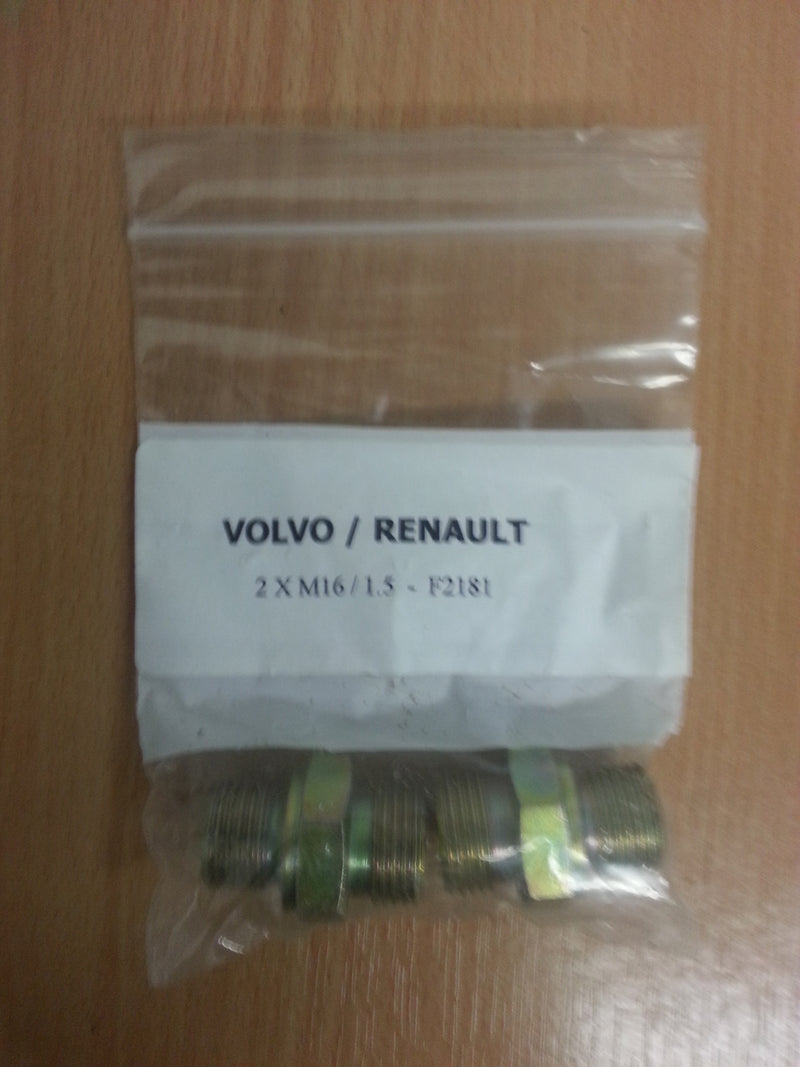 Volvo / Renault Air Coil Susie Fittings / Pack of 2