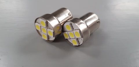 LED Single Contact Tail Light Bulbs Replaces 149 Flasher / Indicator Pack of 2