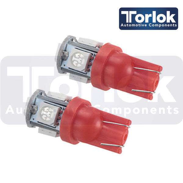 Torlok Premium 24v T10 LED Parking Light Bulbs for Trucks /  Pack of 10