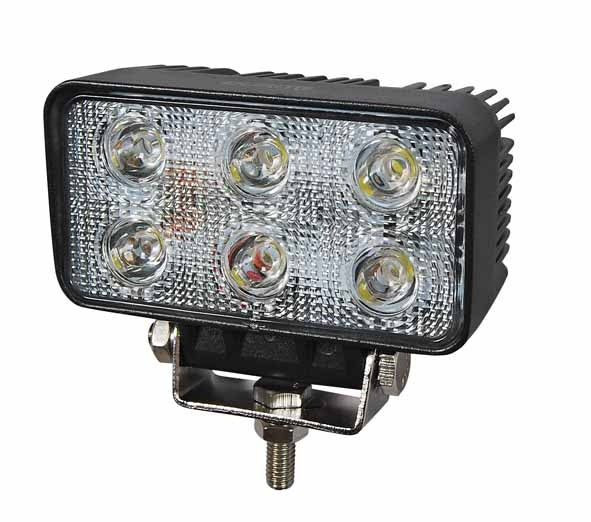 LED Work Light Rectangular 18W with Flood Beam