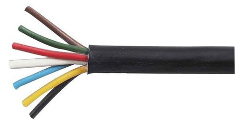 7 Core Heavy Duty Trailer Wiring Cable 6x10 1x20 Thin Wall