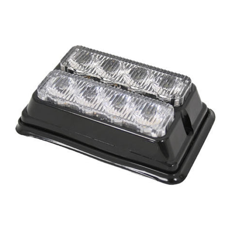 8x LED Double LED Hazard Warning Lamp - AMBER 12/24v *OFFER*