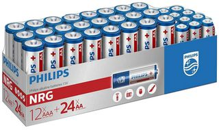 Philips Batteries 36 Pack, AA + AAA