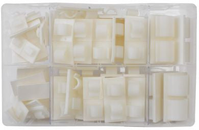 Assorted Adhesive Cable Clips / Pack of 122 Pieces