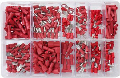 Assorted Red Electrical Terminals 400 Pieces