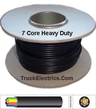 7 Core Heavy Duty Trailer Wiring Cable (6x1.0 + 1x2.0) Thin Wall