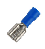 Blue 4.8mm Female Spade Terminals / Pack of 100