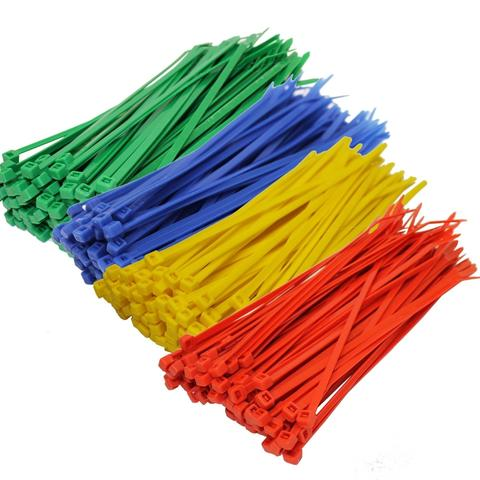 Assorted Bag of Coloured Cable Ties - Pack of 200