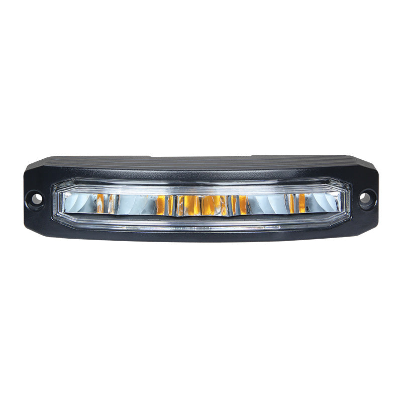 R65 Approved Hazard Wide Angle Corner LED Warning Lamp / LED Autolamps - front, close up