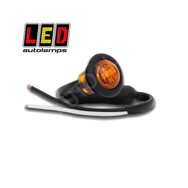 Round LED Marker Lights AMBER By LED Autolamps