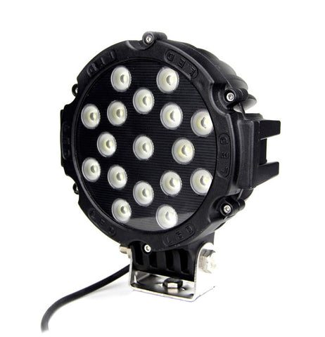LED Worklamp Round / 51W / Heavy Duty / Black