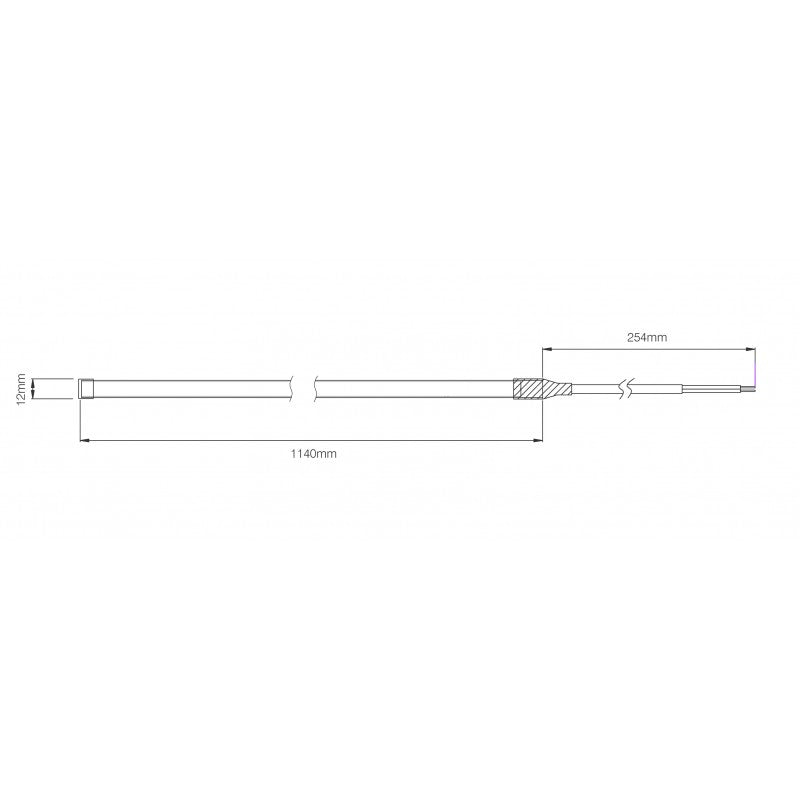 led autolamps Flexible Strip Lamp - 1140mm - schematic