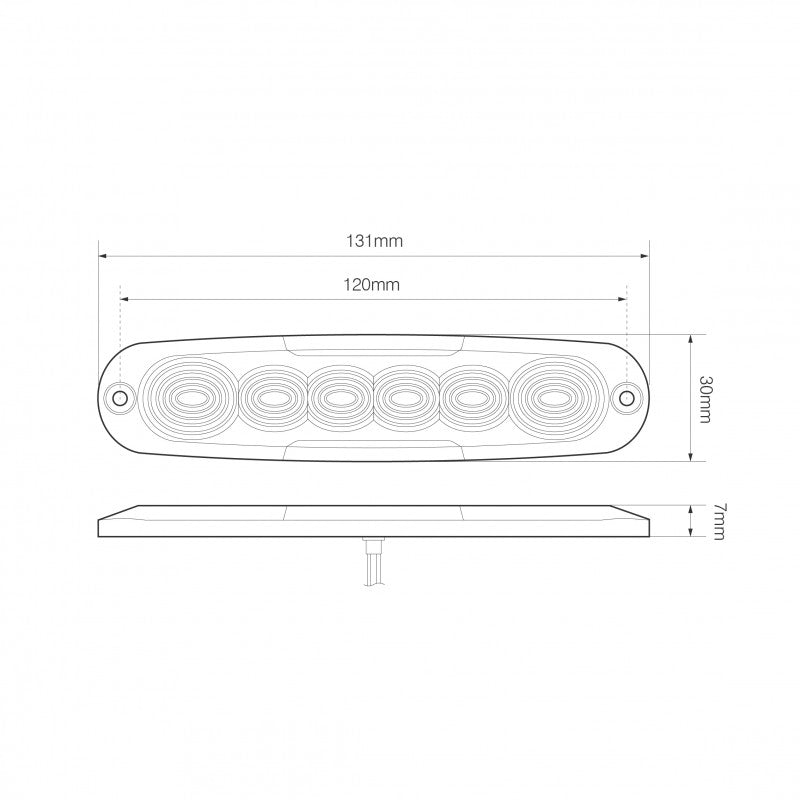Low Profile 6 LED Warning Lamp