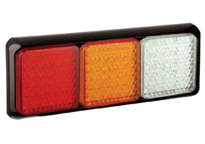 Triple Combination Lamp - Stop/Tail/Indicator/Reverse - LED Autolamps 100BRAWME