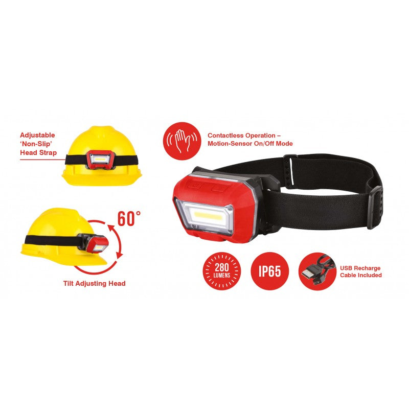 Rechargeable LED Head Torch with Sensor / LED Autolamps
