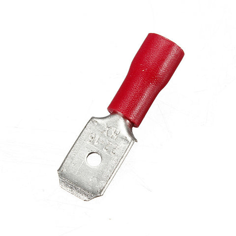 Red Male Spade Terminals 4.8mm
