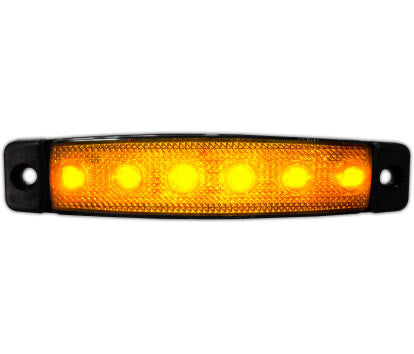 Slim Line LED Marker Lamp Amber 24v