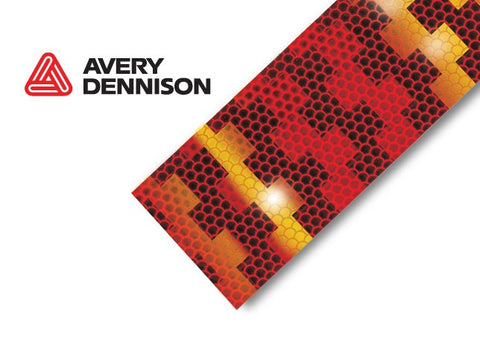 Avery Dennison Conspicuity Tape ECE 104 Approved, 12.5m  RED