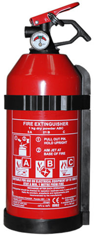 Dry Powder Fire Extinguisher & Gauge 1kg