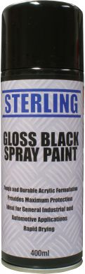 gloss black spray paint