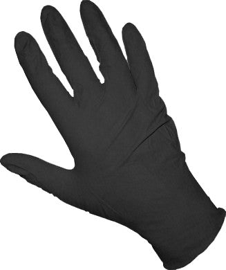 Black Nitrile Gloves - Heavy Duty - Large
