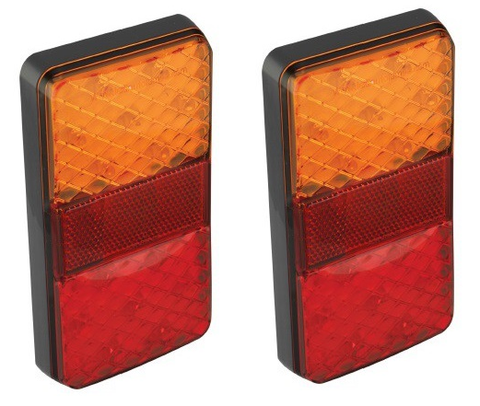 LED Autolamps Rear LED Combination Lamp Kit / Pack of 2 Lamps