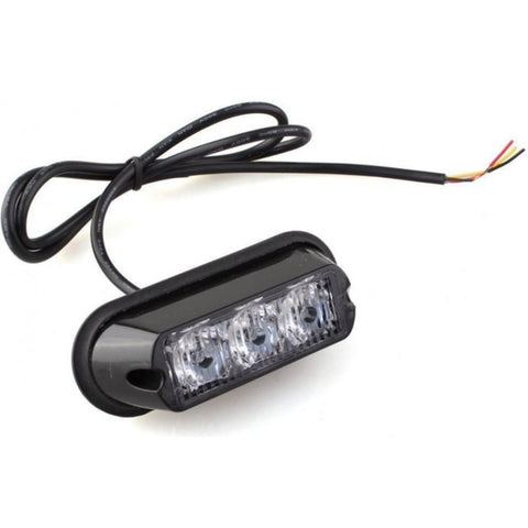 Hazard Warning LED Lamp / AMBER / 17 Flash Patterns / 12/24v
