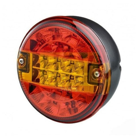LED Round Trailer Lamp 140mm 12v / 24v