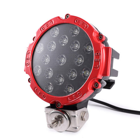 LED Worklamp Round / 51W / Heavy Duty / Red