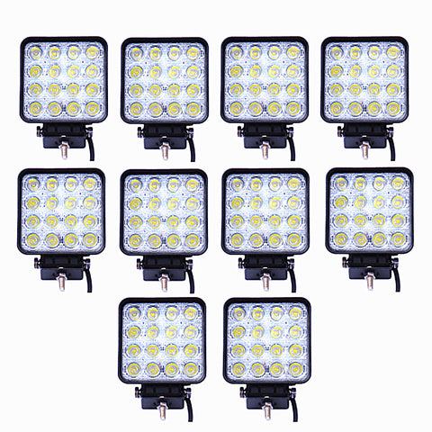 LED Work Light with Flood Beam 48W - PACK OF 10