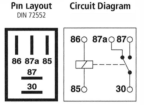 12v 20a Micro Relay 5 Pin on light relay diagram