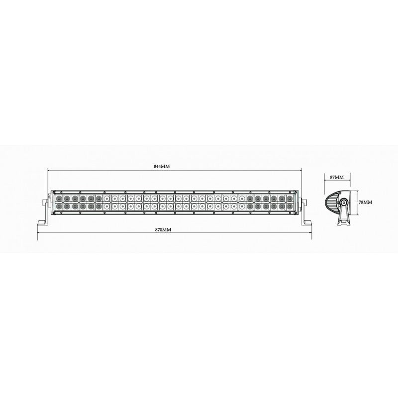LED Light Bar / Flood Beam / 60x LED / 885mm