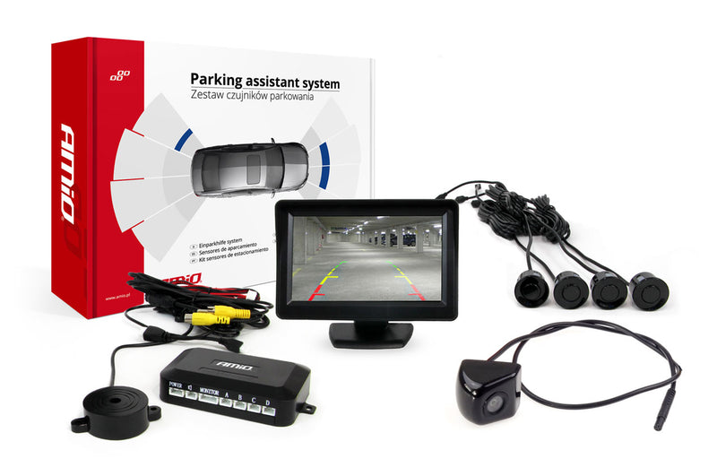 "Parking Assistant System TFT 4,3"" with 4 Sensors"