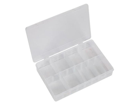 Plastic Box with Hinged Lid & Dividers