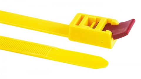 Quick Release Cable Ties 750 x 13mm / 5 Pack