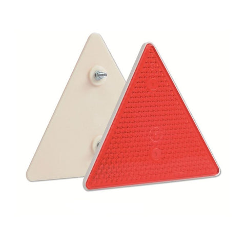 Red Triangle Reflectors for Trailers - Pack of 2