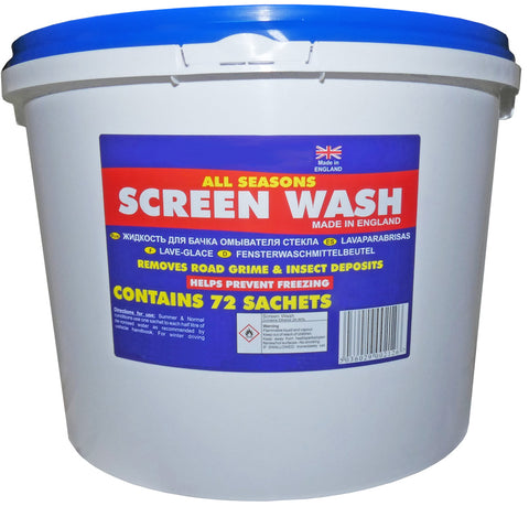 screen wash sachets