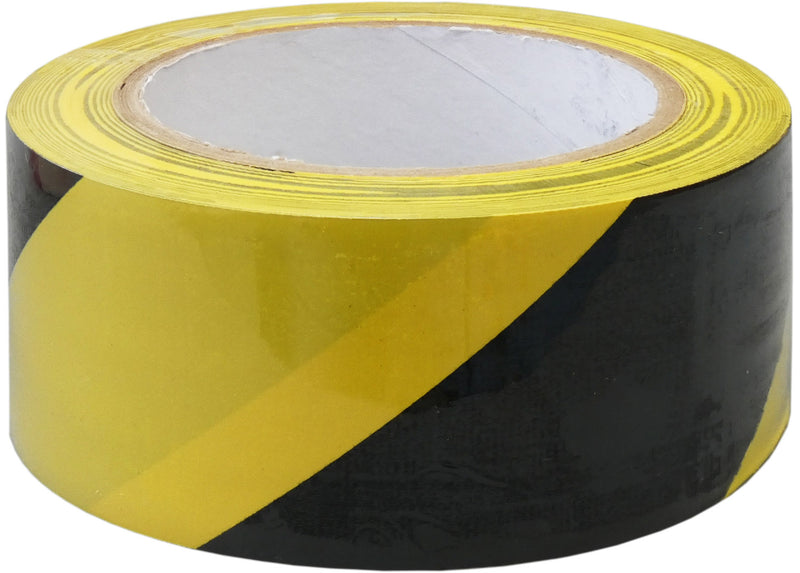 adhesive warning tape - black and yellow