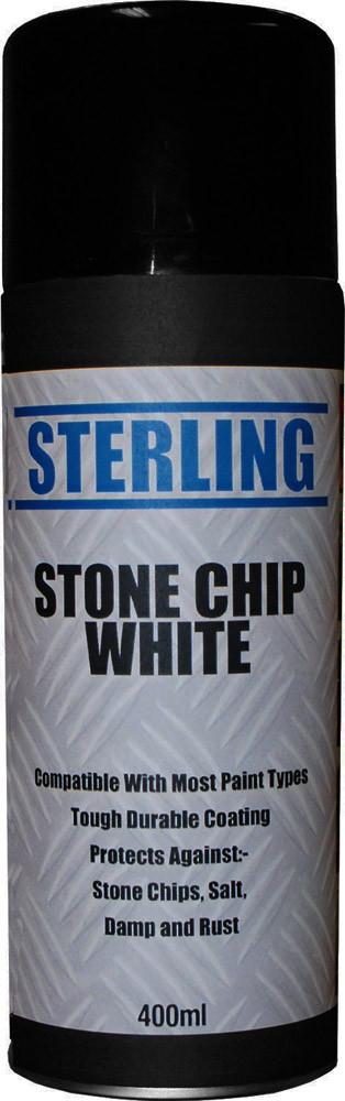 white stone chip spray