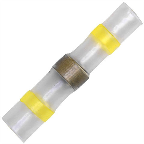 Solder Heat Shrink Connectors Yellow - Pack of 25