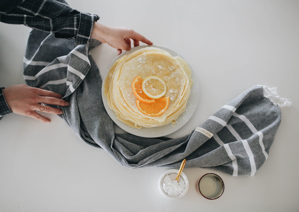 Orange Crepe Stack Recipe