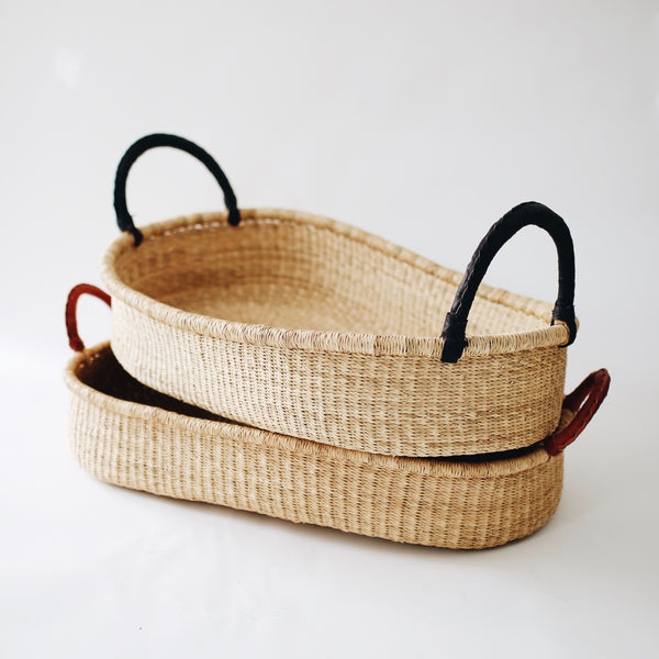 African Woven Changing Basket
